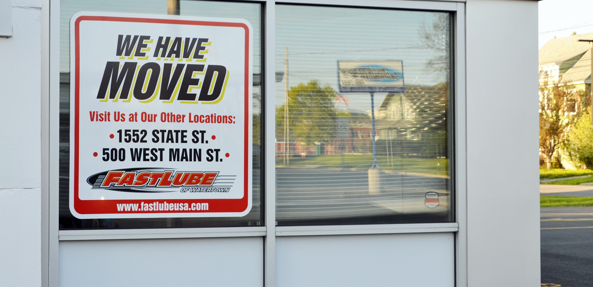 fastlube closes washington street business  2 other convenient watertown locations open